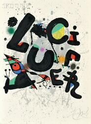 """Joan Miró (Spanish, 1893-1983)      Poster for the Ballet """"Lucifer"""""""