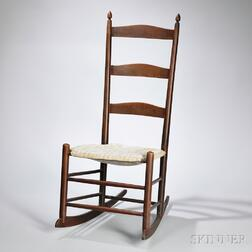 "Shaker Production ""2"" Maple Rocking Chair"