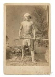 """Framed Cabinet Card Photograph of Apache War Chief """"Goodygooya,"""""""