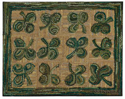Hooked Rug with Clover
