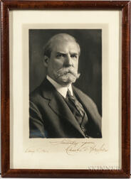 Hughes, Charles Evans (1862-1948) Signed Photograph.
