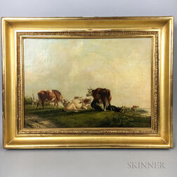 British School, 20th Century       Landscape with Cows