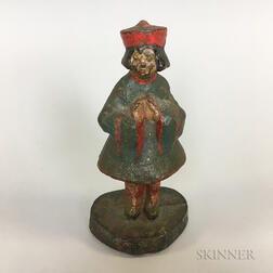 Polychrome Cast Iron Figural Doorstop