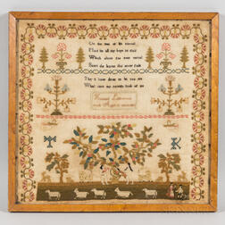 "Needlework Sampler ""Hannah Littlewoods,"""