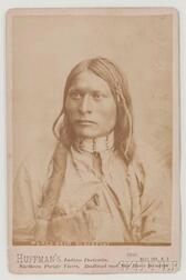 """Framed Cabinet Card Photograph of Chief """"Red Bead"""" by the Huffman Studio"""