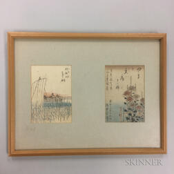 Two Woodblock Prints in a Frame