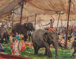 John Whorf (American, 1903-1959)      Country Circus