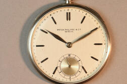 Patek Philippe & Co. Platinum Open-face Watch and Chain