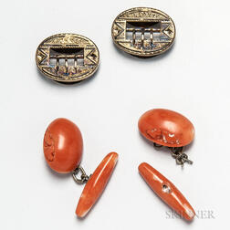Two Pairs of Antique Cuff Links