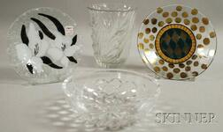 Four Glass Table Items