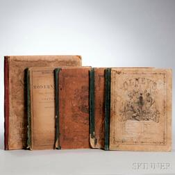 School Atlases, Five from the 19th Century.