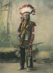 """Tall Red Bird"" Chief, Cheyenne"