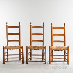 Three Shaker Ladder-back Chairs