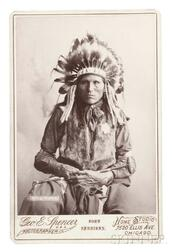 "Framed Cabinet Card Photograph of Chief ""Ring Hawk"" by George E. Spencer"