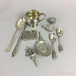 Group of English and Dutch Silver Tableware