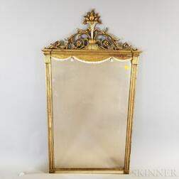Neoclassical-style Molded and Gilt Tabernacle Mirror