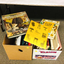 Two Boxes of Books on American Folk Art