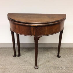 George III Mahogany and Mahogany-veneered Game Table