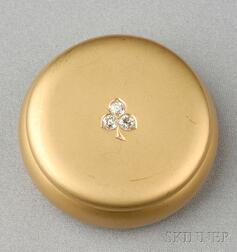 Antique 18kt Gold and Diamond Box