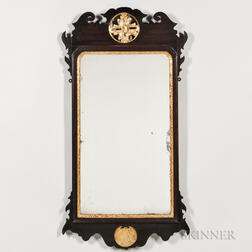 Mahogany and Gilt Scroll-frame Mirror