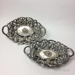Pair of Continental Silver Weighted Baskets