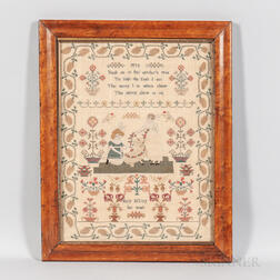 """Mary Jeffrey"" Needlework Sampler"