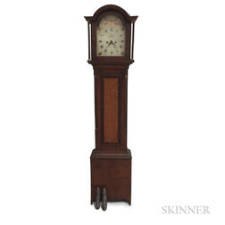 Federal Maple, Cherry, and Mahogany Tall Case Clock