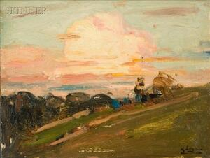 Robert Henry Logan (American, 1874-1942)    Lot of Two Landscapes