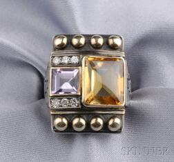 Silver Gem-set Ring, Cozzolino