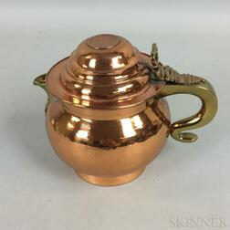 Sheffield Copper and Brass Teapot