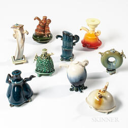Nine Fong Choo (Singaporean/American, 20th/21st Century) Miniature Ceramic Teapots