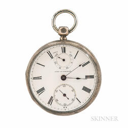 Sterling Silver Wind Indicator Open-face Watch