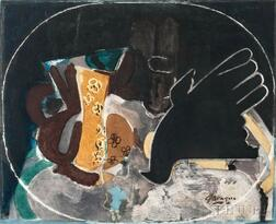 After Georges Braque (French, 1882-1963)      Pichet et Oiseau