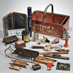 """""""MOTHER'S/KOFFEE HOUSE"""" Advertising Basket and Assorted Contents"""