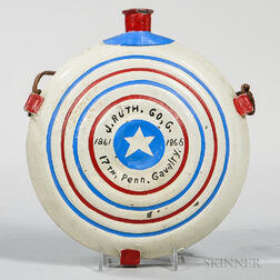 17th Pennsylvania Painted Canteen