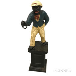 Polychrome Cast Iron Figural Hitching Post