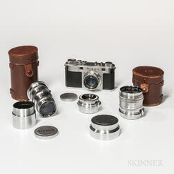 Early Nikon M Rangefinder Camera and Lenses