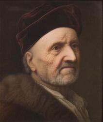 Berlin Painted Porcelain Plaque of an Elderly Man