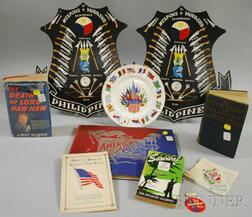 Group of WW I, II, and Militaria-related Ephemera, Collectibles, and Other   Items