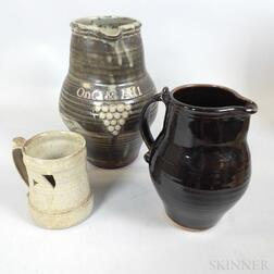 Three Bernard Leach (1887-1979) Studio Pottery Items