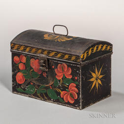 Painted Tin Document Box