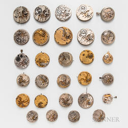 Twenty-nine American Watch Movements