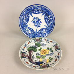 Two Delft Ceramic Chargers