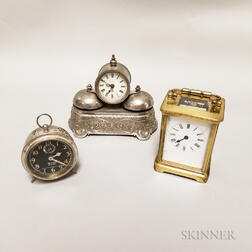 Three Assorted Desk Clocks