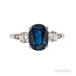 Platinum, Sapphire, and Diamond Ring, Tiffany & Co.