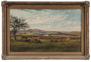 Frank Henry Shapleigh (1842-1906)      View from Lewis Nute Farm, Milton, New Hampshire