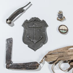 Navy Knife, Whistle, and Plaque