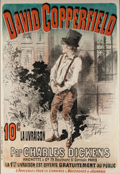 Dickens, Charles (1812-1870) David Copperfield,   Poster Illustrated by Jules Chéret (1836-1923).