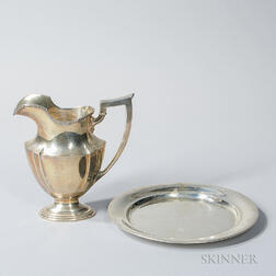 Gorham Sterling Silver Water Pitcher and Towle Sterling Silver Charger