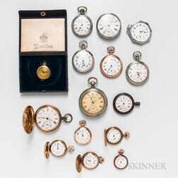 Fifteen American Open-face and Hunter Case Watches